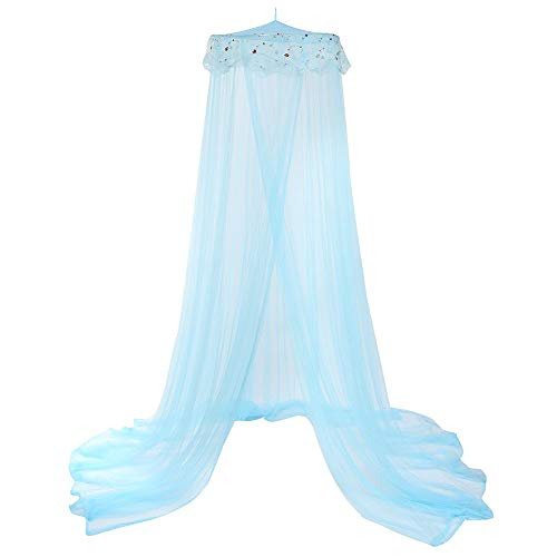 Yamalans 270cm Baby Kid's Princess Room Dome Bed Curtain Canopy Hung Mosquito Fly Net Decor Light Blue One Size