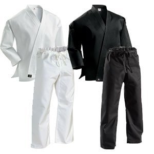 (Century 8 oz Middleweight Uniform with Traditional Pants Black 1)