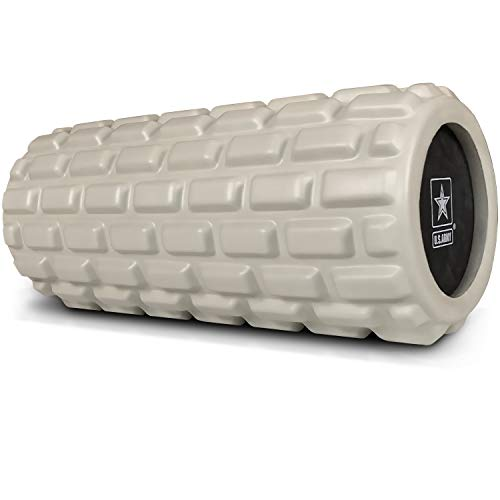 U.S. Army nb-3 Foam Roller - Deep Tissue Massage Roller for Trigger Point Release on Muscles - Light Green