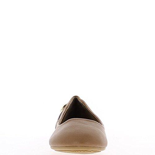 talonnette Ballerines dorée de taupe avec et 1cm boucle Ballerines taupe q7qP0Z