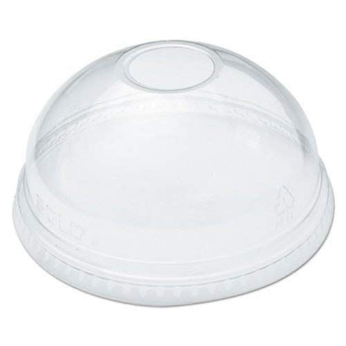 DART DLR626PK Ultra Clear Dome Cold Cup Lids f/16-24 oz Cups, PET, 100/Pack