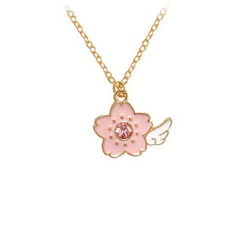 Qihe Jewelry Cardcaptor Sakura Charm Necklace (Flower)