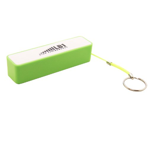 LB1 High Performance New Emergency Power Bank for Nokia Lumia 1520 - 16GB - Glossy Red Portable External Battery 2200mAh 5V/1A Mini Universal Power Bank with Key Chain (Green)