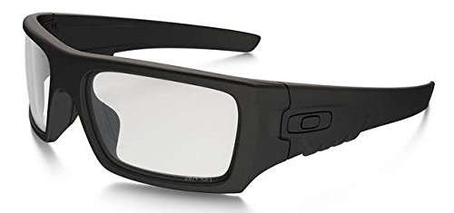 Oakley Men's Det Cord Rectangular Sunglasses, Matte Black, 61 mm by Oakley