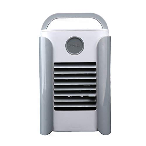 Portable Air Cooler USB, Snowfoller Air Conditioner Fan 3-Model Wind Rapid Cooling, Wireless Speaker FM Radio (A)
