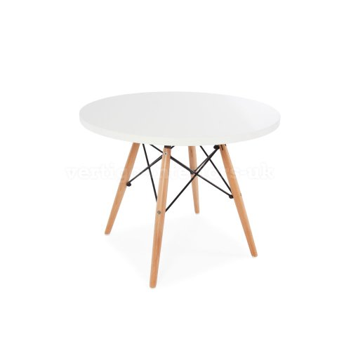 Magnificent Eames Style Kids Round White Table 2 Kids Dsw Chairs Cjindustries Chair Design For Home Cjindustriesco