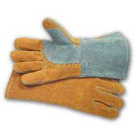 PIP Welder's Gloves, Side Split W/Cotton Foam Lining, Brown, L (73-7150)