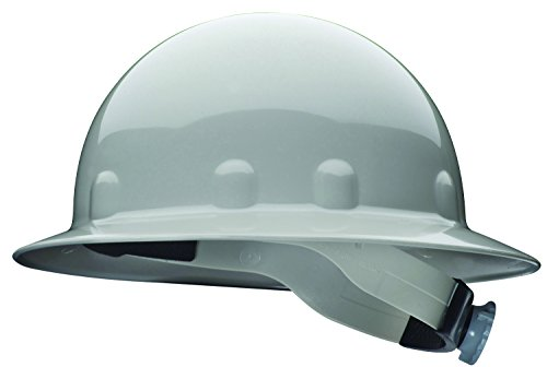(Fibre-Metal by Honeywell SuperEight Thermoplastic Full Brim Hard Hat with 8-Point Ratchet Suspension, Gray)