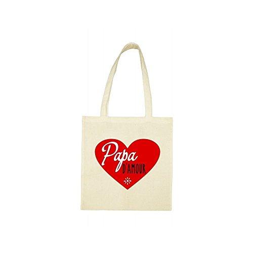 coeur papa amour Tote bag d beige 8wqYn1aO