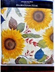 (Mainstays Sunflower Tablecloth Vinyl 60 x 84 Chloride-Free PEVA)