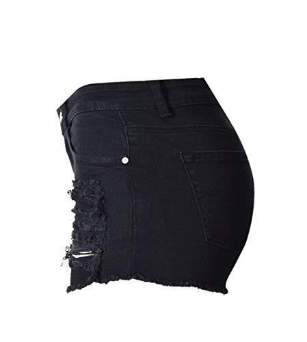 Boutons Femmes Targogo Courts Chic Déchirés Pour Haute Jeans Po0138 Taille Pantalons srCthxdQ