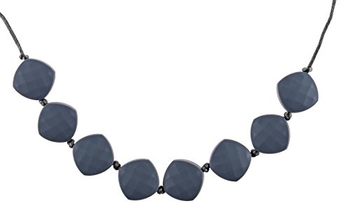 Chew-Choos 'Sweet pea' Silicone Teething Necklace (Gray Clouds)