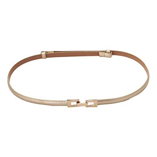 Allywit Elegant Fashion Women Belt Buckle Leather Waistband Accessories (Gray) (1.5 Cm Leather Belt)