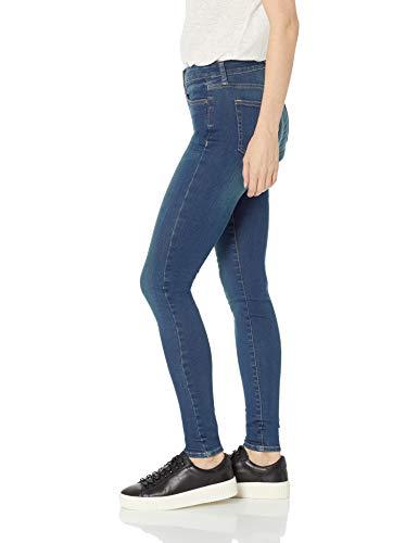 Amazon Brand - Daily Ritual Women's Mid-Rise Skinny Jean, Mid-Blue, 25 (0) Short