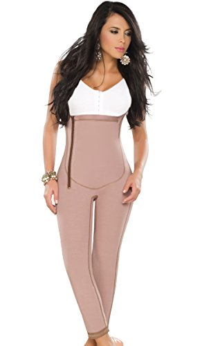 DPrada 022 Liposuction Compression Garments Post Surgery Girdle Full Body Shaper - Cocoa-Optic - (Post Surgery Garments)