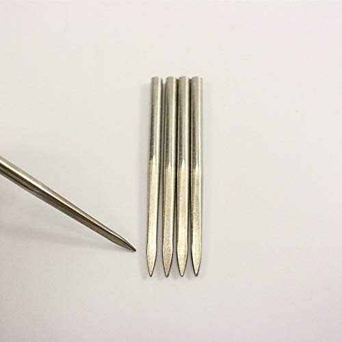 VCB Flat Head Stainless Steel Paracord Weaving Needles for Paracord Bracelet Silver