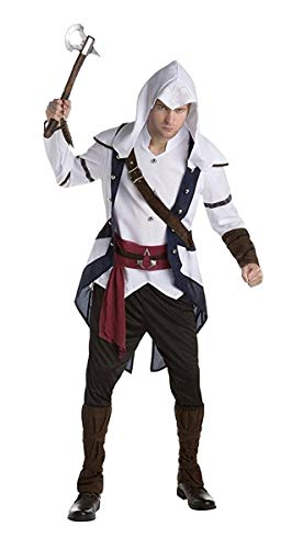 Palamon Men's Assassin's Creed Connor Classic Costume, White, Large -