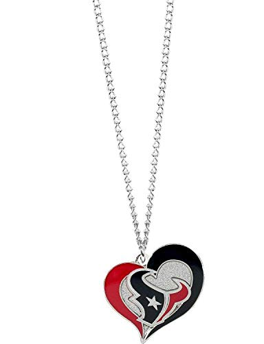 aminco NFL Houston Texans Swirl Heart Necklace