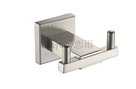 Accessori bagno gancio in acciaio inox spazzolato base robe di 304