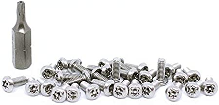 BelMetric Tamper Proof Screws M3X6 Stainless Steel Button Head Security Screw Torx with Pin Bit Included SBT3X6SS 30pcs