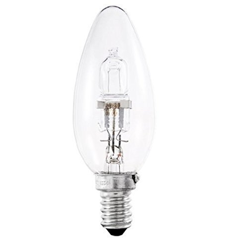 Dimmable Candle SES E14 Halogen Energy Saving Light Bulbs Mains 240V Small Edison Screw Cap 700 Lumen 64543 B Dimmable Lamps =60W 20Pack OSRAM Classic Eco Superstar 46W