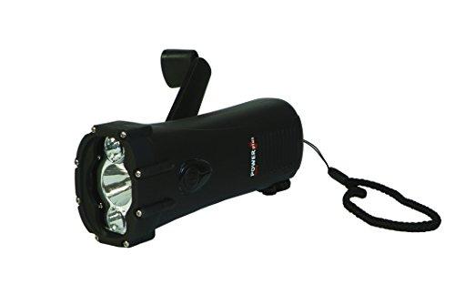 PowerPlus Shark Eco-friendly Waterproof Rechargable LED Dynamo Flashlight/Charger -