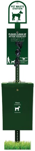 ZeroWaste Gladiator Dog Waste Station with Roll Bag Waste System by Zero Waste USA
