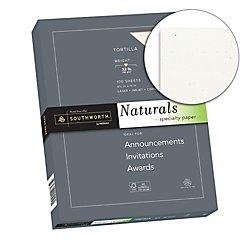 Southworth(R) Naturals Specialty Paper, 8 1/2in. x 11in, 32 Lb, Tortilla, 100 Sheets