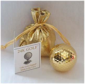 24K Gold Dipped Golf Ball Gold Golf Ball
