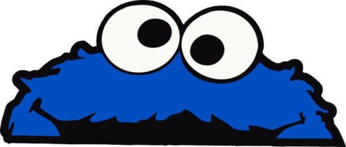 Cookie Monster Window Decal Vinyl Sticker 5