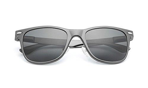 Gafas gray Sol UV Unisex Protección polarizadas uñas Sol Vintage de de de arroz de clásicas MXNET Gray Gafas wBdHTqxw