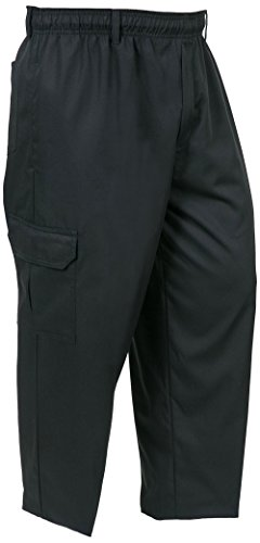 Mercer Culinary M61090BK5X Genesis Men's Chef Cargo Pant, 5X-Large, Black by Mercer Culinary