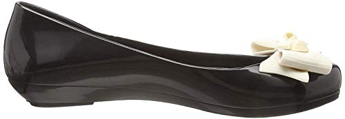 Donne Scarpe Contrast Zaxy Bow Nero Pop Flats Ballerine Ribbon pBzxqXwx7