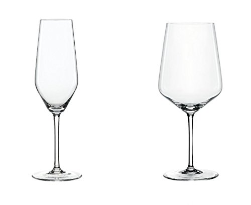 Spiegelau Style: Champagne and Red Wine Glasses, 8 Pieces ()