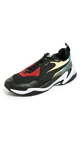 (PUMA Men's Thunder Spectra Sneaker, Black White, 10.5 M)