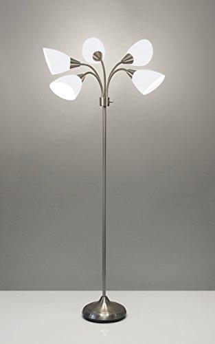 Adesso 7205 22 medusa 5 shade floor lamp aloadofball Choice Image