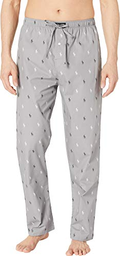 - Polo Ralph Lauren Men's All Over Pony Print PJ Pants Museum Grey/Polo Black/White All Over Pony Print X-Large