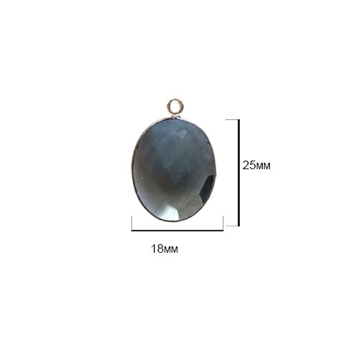 Gemstone Oval Pendant Bead - 2 Pcs London Blue Topaz Oval 18X25mm by BESTINBEADS I London Blue Topaz Stone I 2 Pcs London Blue Topaz Oval Pendant I Oval Bezel Pendant Silver
