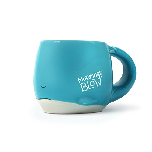 Luckyoo 'Mornings Blow' Whale Ceramic Mug
