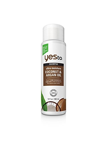 Banana Coconut Oil (Yes To Naturals Coconut & Argan Oil Ultra Moisture Shampoo, 12 Fluid Ounce)