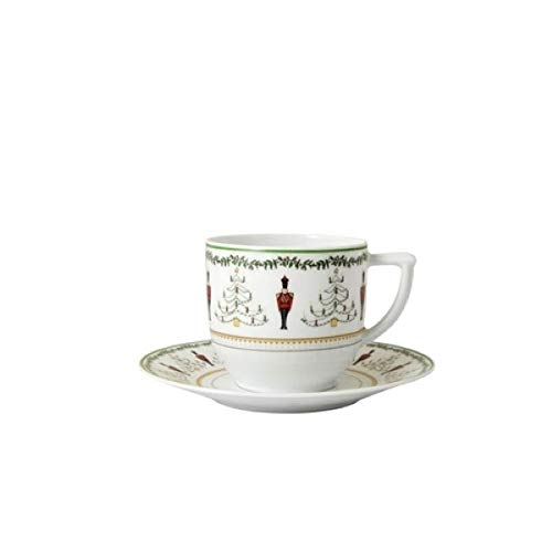 Bernardaud Limoges Grenadiers After Dinner (Espresso) Cup & Saucer set