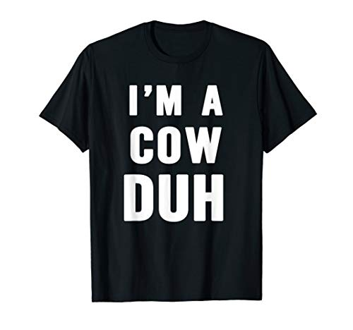 Easy Halloween Cow Costume Shirt for Men Women Kids -