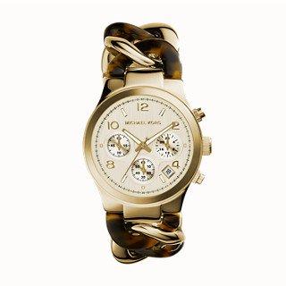 Michael Kors Two-Tone Runway Twist Women's - Kors Michael Tortoise Watch