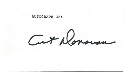 Art Donovan Signed Autographed 3 X 5 Index Card Baltimore Colts ()