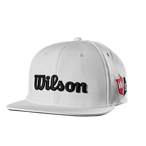 Wilson Flat Brim Golf Hat, White