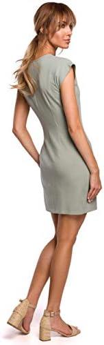 Mini robe avec noeud Pistache