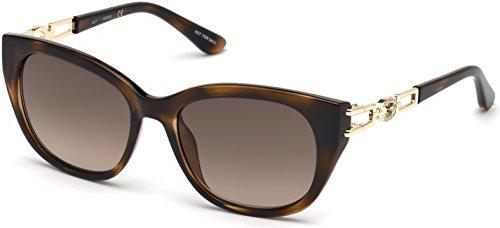 (GUESS Women's Gu7562 Square Sunglasses, dark havana & gradient brown, 55 mm)