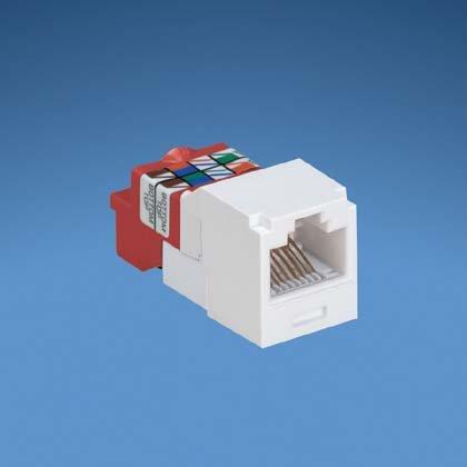 Panduit Mini-Com Cat5e TX-5e Modular Jack, Orange, Box of 50 CJ5E88TOR by Panduit