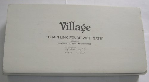 Dept 56 Chain Link Fence With Gate (Manor Gate Gate Manor)