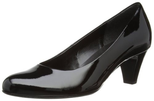 Gabor Womens Vesta 2 Pat Court Shoes Black 1YxIs